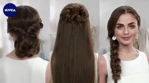 Hochsteckfrisurenen Selber Machen Glatte Haare by Hochsteckfrisuren Lange Haare Mit Pony