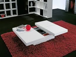 white living room table furniture white table with under storage space luxurious red