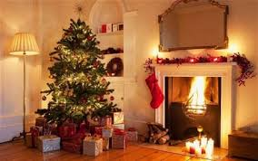 christmas decorations stockings candles and bunting ideas