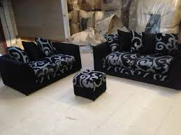 different types of sofa sets zina dylan three seater and two 3 2 seater sofa set in fabric in