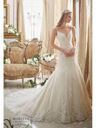 hem wedding dress mori 2883 wedding dress shoe string straps scalloped lace hem