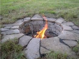 Firepit Rock How To Build A Pit Flagstone Pavers Flagstone And Rivers