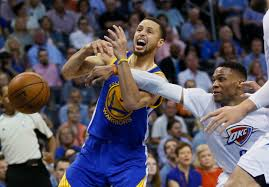 Oklahoma travel guard images Warriors thunder scuffle includes stephen curry russell westbrook jpg