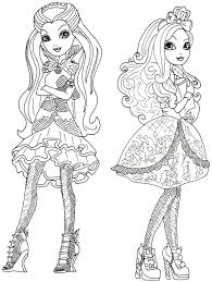 free ever after high coloring pages february 2014