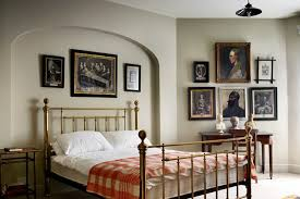 Brass Bedroom Furniture by Gallery Wall Grey Paint Brass Bed Frame Bedroom Ideas