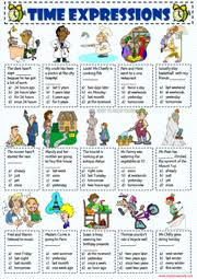time adverbs esl printable worksheets and exercises