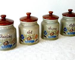 stoneware canisters etsy