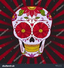 halloween background sugar skulls vector sugar skull dia de los stock vector 132552305 shutterstock