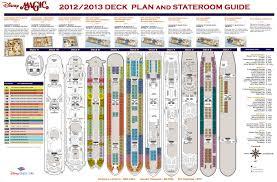 visited magic deck plan disney cruise disney world pinterest