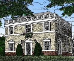federal style house plans plan w12802gc federal home plan with apartment below e