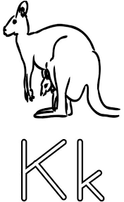 k is for kangaroo coloring page related keywords u0026 suggestions