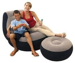 Blow Up Armchair Amazon Com Intex Inflatable Ultra Lounge With Ottoman Sports