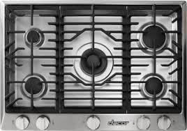 30 Gas Cooktop With Downdraft Dacor Rnct305g 30 Inch Gas Cooktop With 5 Sealed Burners