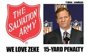 Cowboys Win Meme - ezekiel elliott s jump into salvation army kettle inspires hilarious