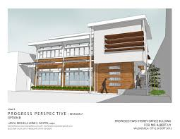 2 storey commercial building floor plan architecture and interior design by santos at