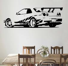 gtr skyline sports car r34 roadster wall stickers vinyl decals