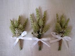 Wedding Boutonnieres Country Chic Wheat Wedding Boutonnieres Set Of 6 Wheat Wedding Pin