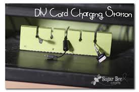 Diy Charging Stations Diy Charging Station Organizer Sugar Bee Crafts
