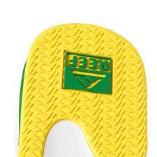 mens reef fanning flip flops sale stylish mens elegant shoes sale green yellow reef fanning flip