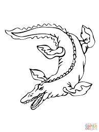 mosasaurus dinosaur coloring page free printable coloring pages
