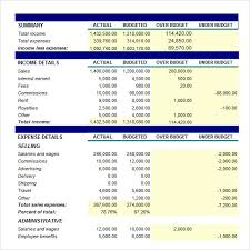 Corporate Budget Template Excel Sle Small Business Budget 6 Exle Format