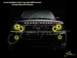 land rover yellow oracle 03 09 land rover range rover ccfl halo rings head fog bulbs