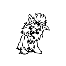 yorkie coloring pages 5495