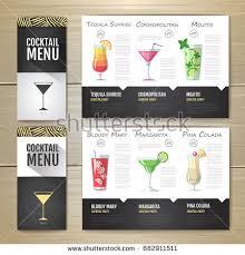 watercolor cocktail concept design corporate identity stock vector