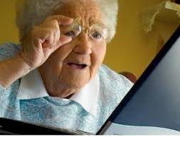 Meme At Computer - old lady at computer blank template imgflip