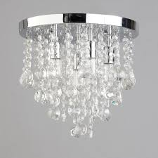 6 light semi flush circular bathroom ceiling light chrome