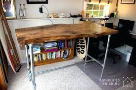 live edge computer desk standing desk wood standing desk with storage standing desk with