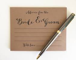 Advice To Bride And Groom Cards Wedding Advice Cards Bride And Groom Advice Cards Mr And