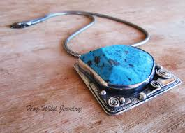 silver turquoise pendant necklace images Handcrafted artisan sterling silver turquoise women 39 s pendant jpg