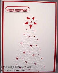 annual christmas card making day stamping with moon creations