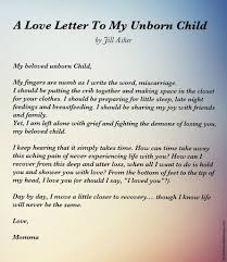 I Love U Baby Quotes by Letter To An Unborn Child Grief Babies And Angel Babies