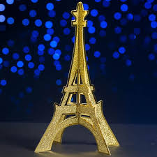 eiffel tower decorations 3d gold glitter eiffel tower centerpieces stumps