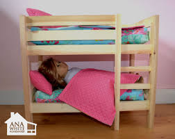 Wooden Bunk Bed Plans Free by Ana White Doll Bunk Beds For American Doll And 18