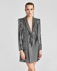 metallic blazer dress mini dresses woman zara canada