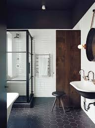 Bathroom Design Black White Mosaic Tile Bathroom Designs - Modern subway tile bathroom designs