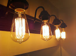 4 Bulb Bathroom Light Fixtures Edison Lights Home Decor Pinterest Mirror L