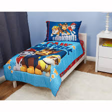 Adventure Time Bedding Amazon Com Paw Patrol Here To Help 4 Piece Toddler Bedding Set