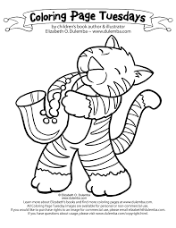 dulemba coloring page tuesday jazz cat