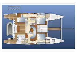 luxury yacht floor plans 50 u0027 cruising catamaran crowther 591 multihull sailboats