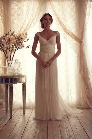 simple white beach style wedding dresses 2014 v neck beaded bridal