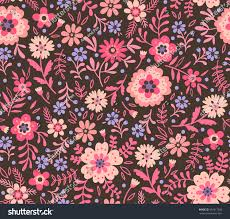 cute pattern small flower small pink stock vector 437417836