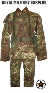 commando kit vegetato woodland camouflage italy military
