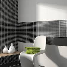 fashion mosaico negro black and white bathroom ideas black
