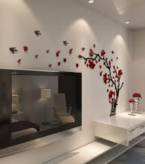 wall stickers murals decorsmart plastic trees and birds 3d wall decals