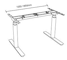 bureau r lable en hauteur ectrique table hauteur ajustable trendy table hauteur rglable with table
