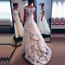 wedding dress bustle discount classic a line lace wedding dress 2018 affordable bridal